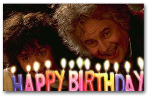 LORD OF THE RINGS QUOTES BILBO BIRTHDAY